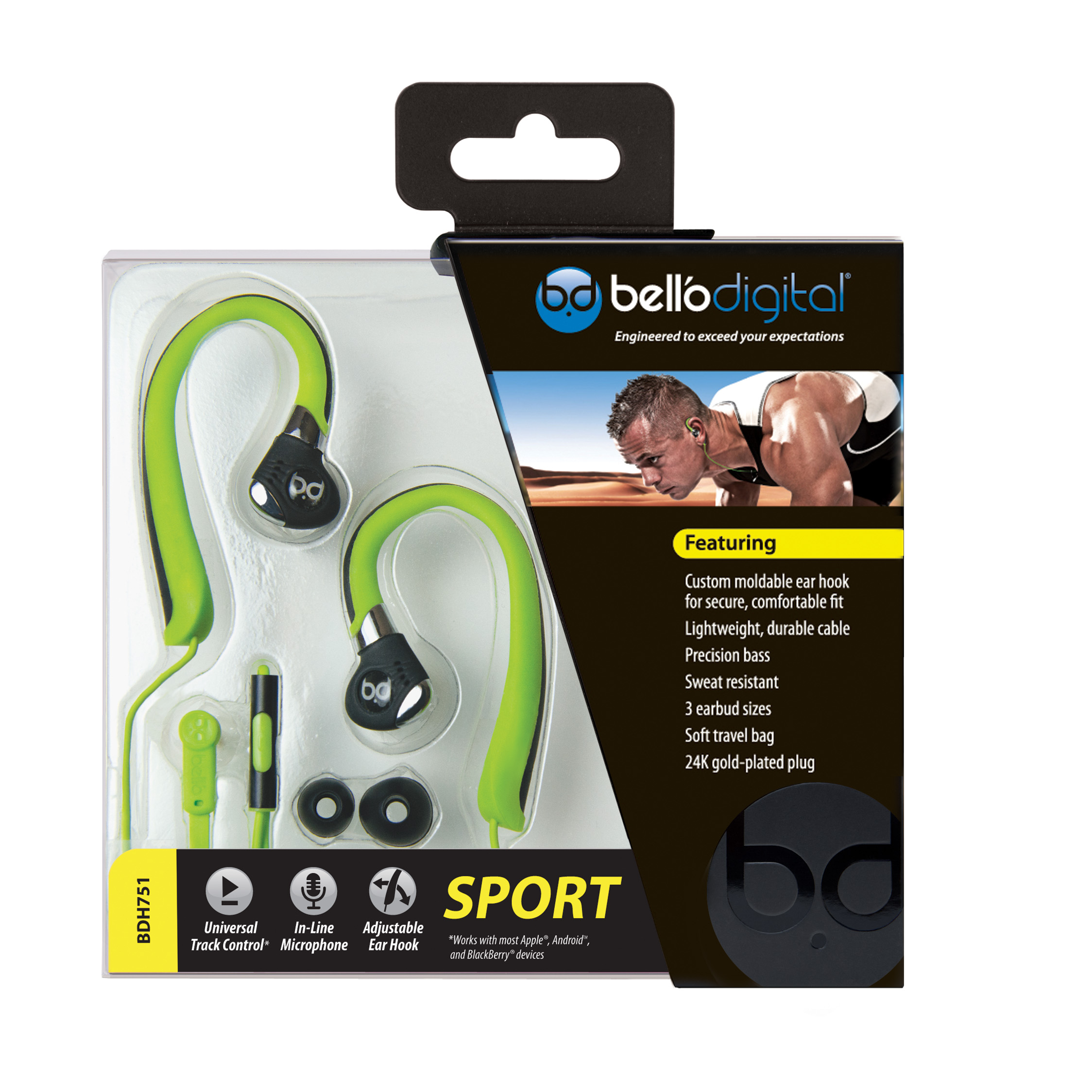 BDH751 Package Review: BellO Digital BDH751 Sport Earbuds