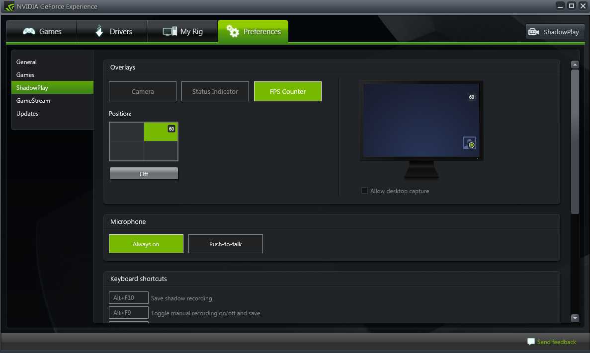 NVIDIA GeForce Experience Frame Counter