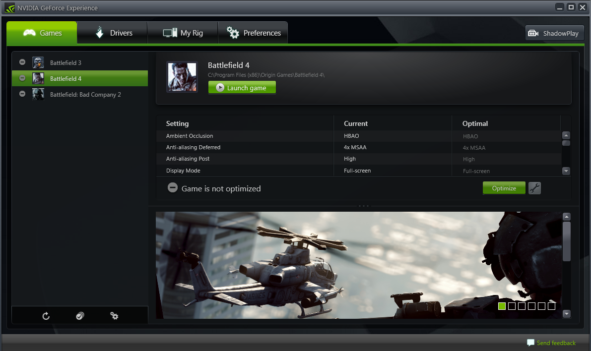 NVIDIA GeForce Experience Updates with Frame Rate Counter, Desktop