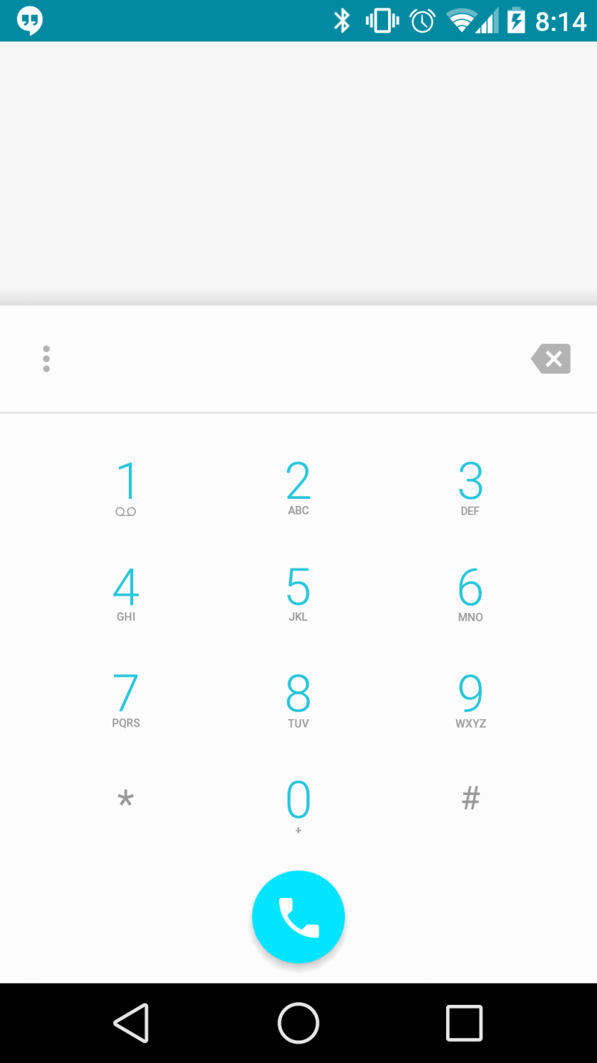 Android L Developer Preview Dialer