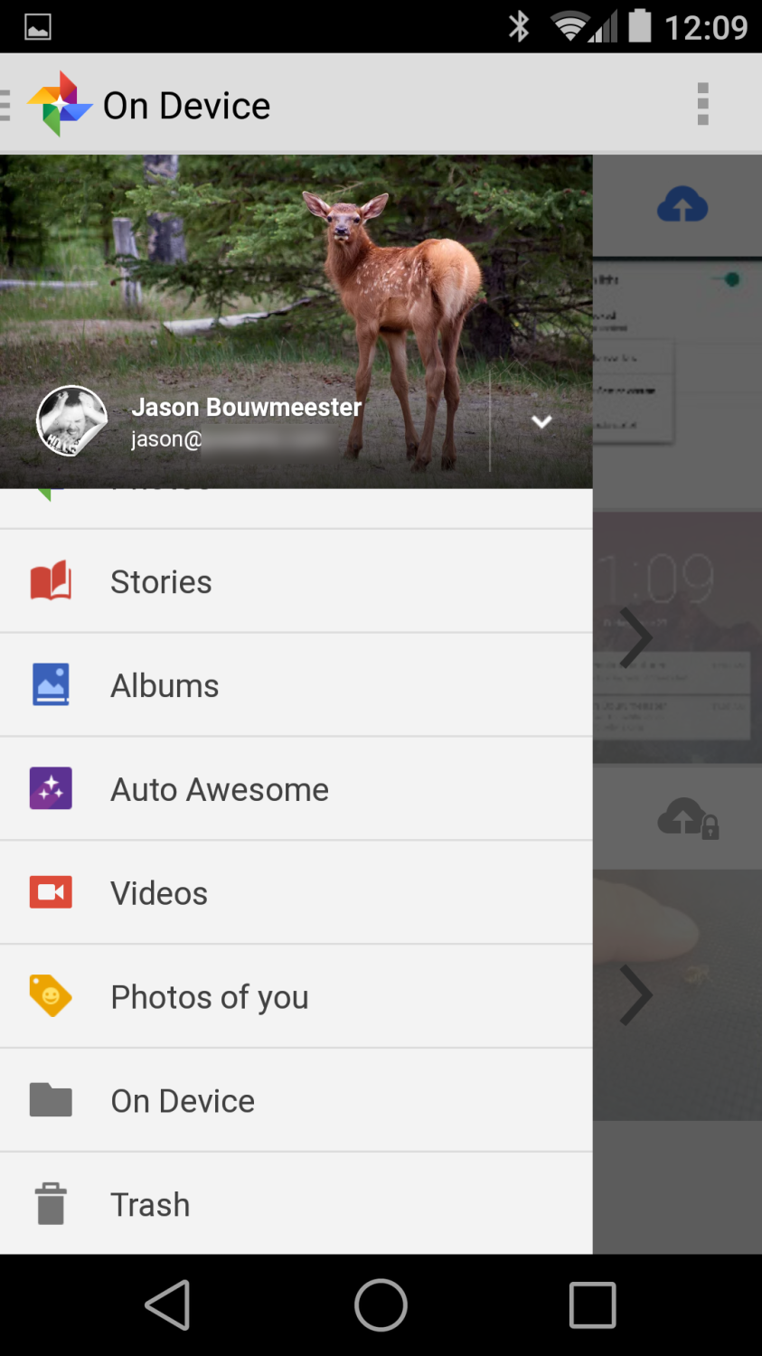 Android L Developer Preview Photos App