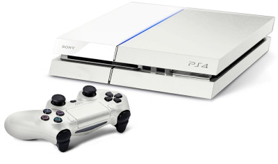 White Sony PS4