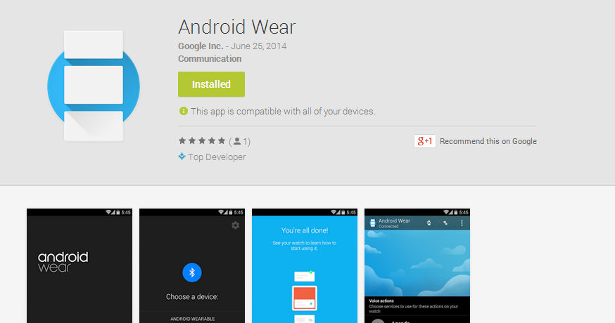 Android Wear in Play