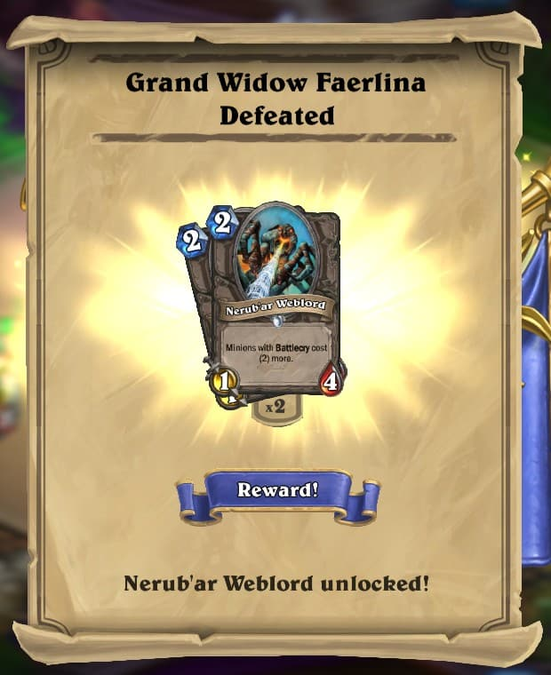 Grand Widow Faerlina Reward Card