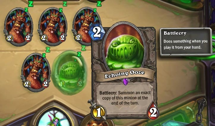 Echoing Ooze Card