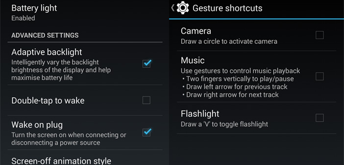 oneplus one gestures