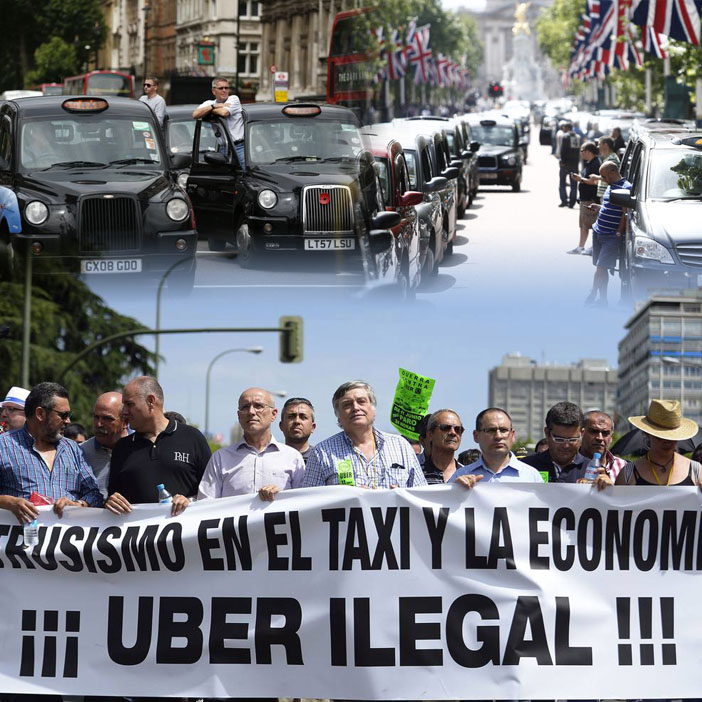 uber protest picket