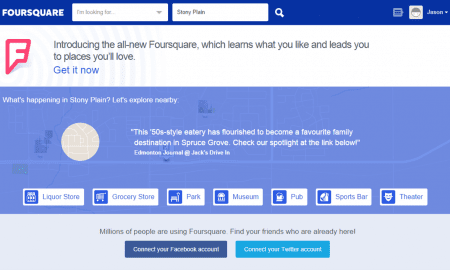 Foursquare Website