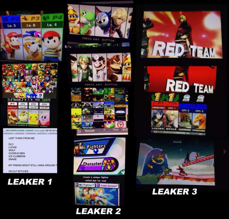 All the 4chan leaks organized by a NeoGAF user. Image Courtesy NeoGAF