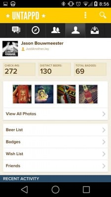 Untappd-History-Screen