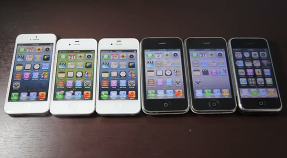 iPhones-side-by-side-3-3gs-4-4s-5-5s-5c