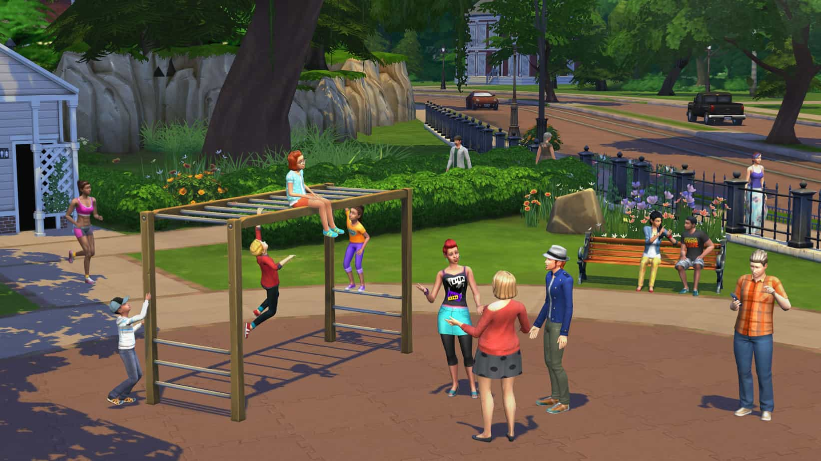 Unlike The Sims 3, the background is merely an illusion. You can