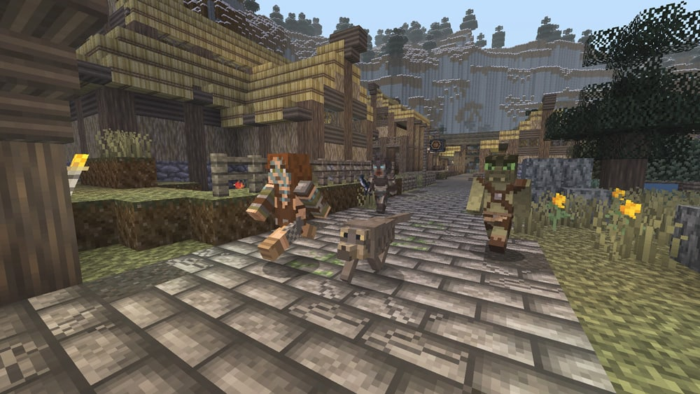 Minecraft-SkyrimPack-Xbox-One-Screenshot