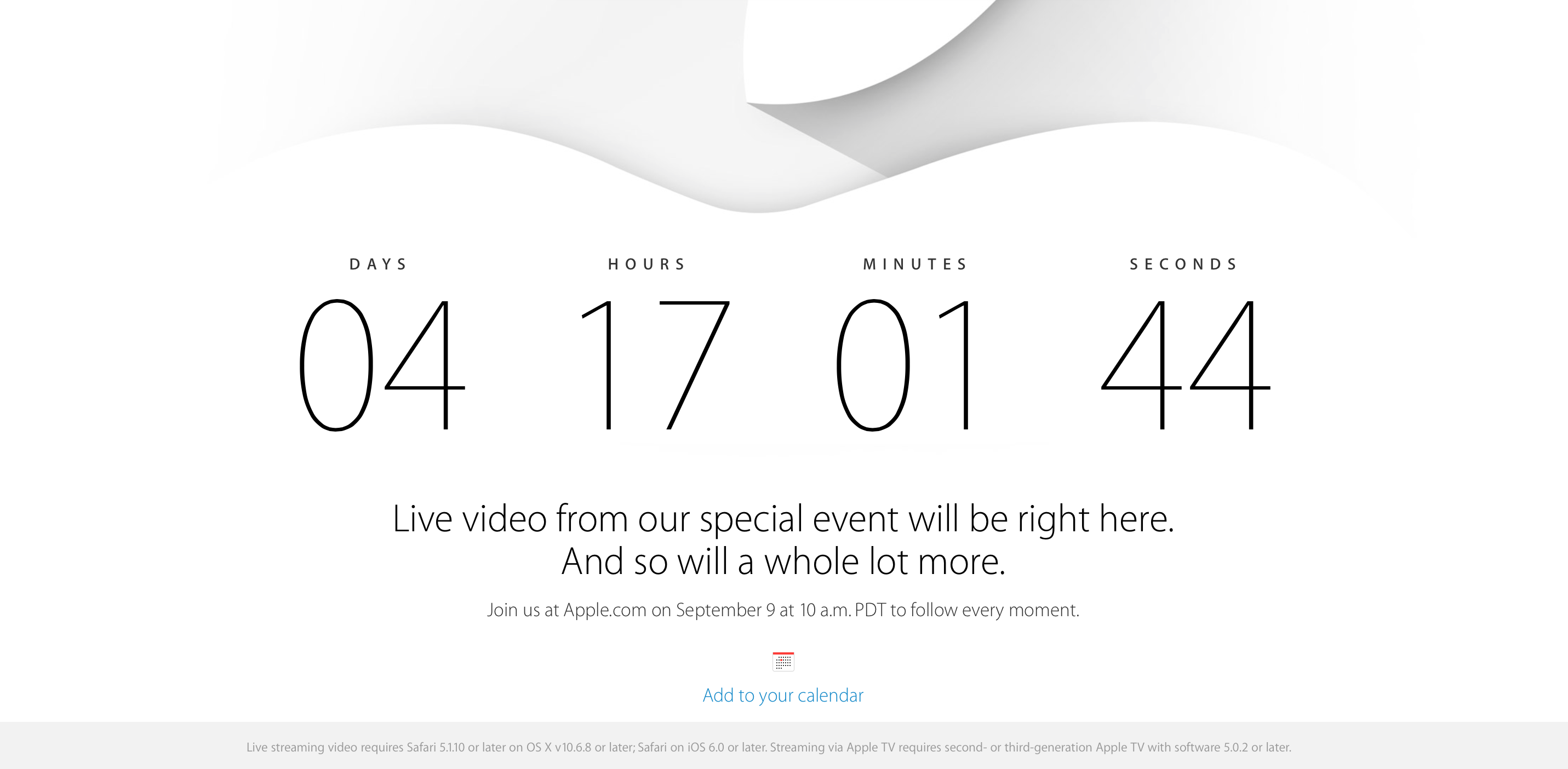 Apple Live Stream September 9th Will Have The Usual ...