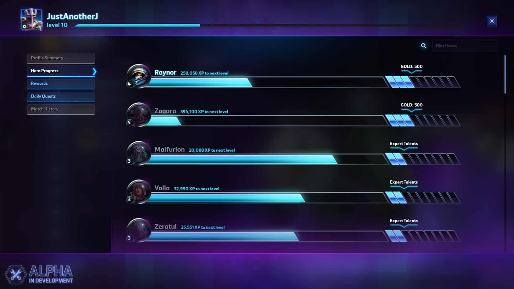 Heroes-of-the-Storm-Leveling-Screenshot