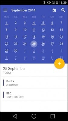 Today-Calendar-Android