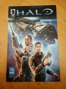 Halo: Escalation Issues 1-3 digital download code from Dark Horse Comics.