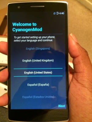 Welcome to Cyanogenmod!