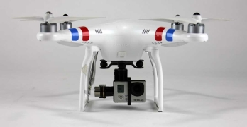 The DJI Phantom 2 with a GoPro Attached