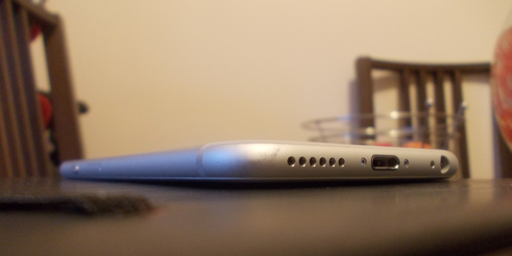 iPhone bent angle