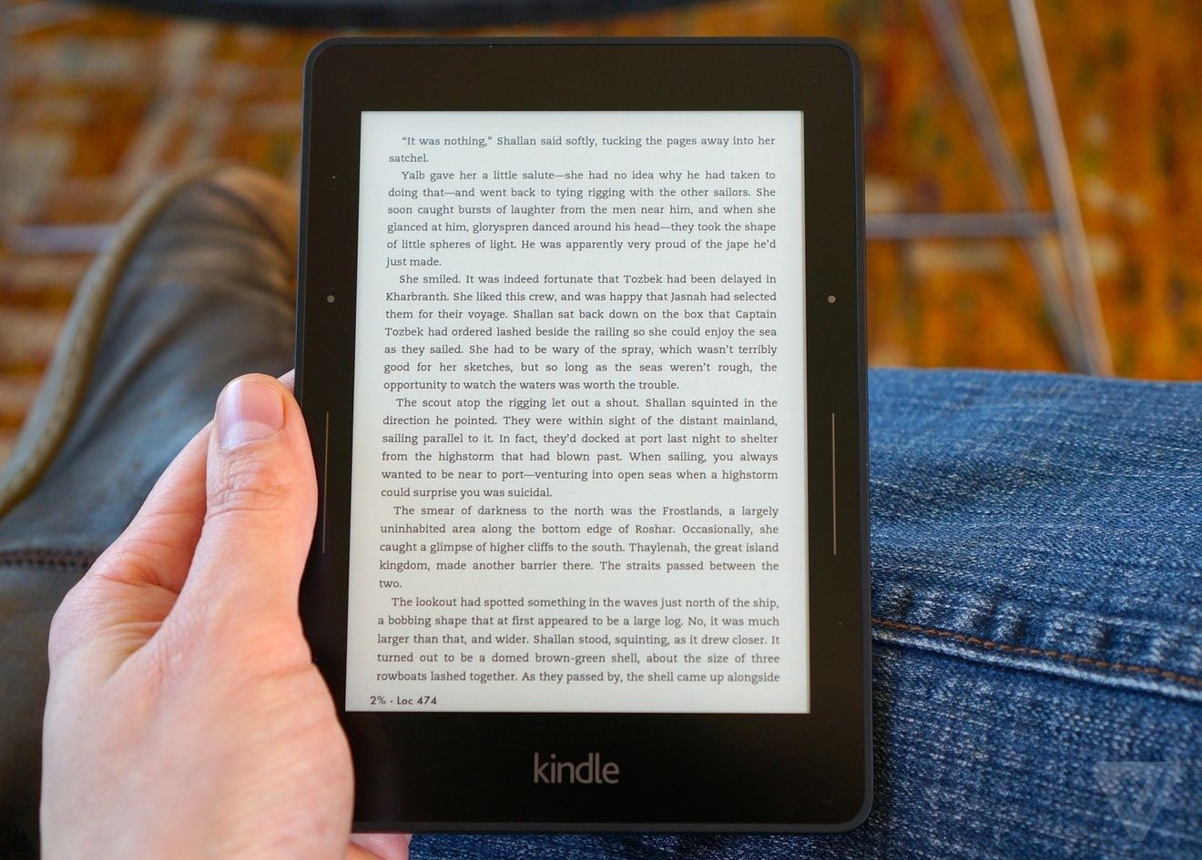 Kindle Voyage in all its glory (courtesy The Verge)
