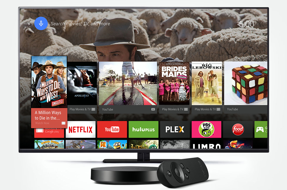 Lollipop running on Nexus Player (courtesy Google)