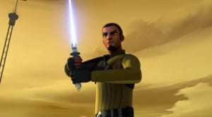 Kanan reveals his Jedi training during combat.