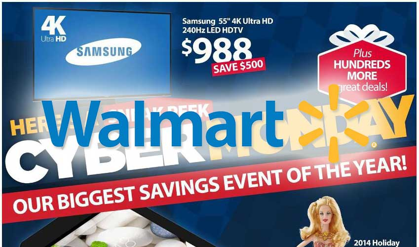 Cyber monday deals walmart ad