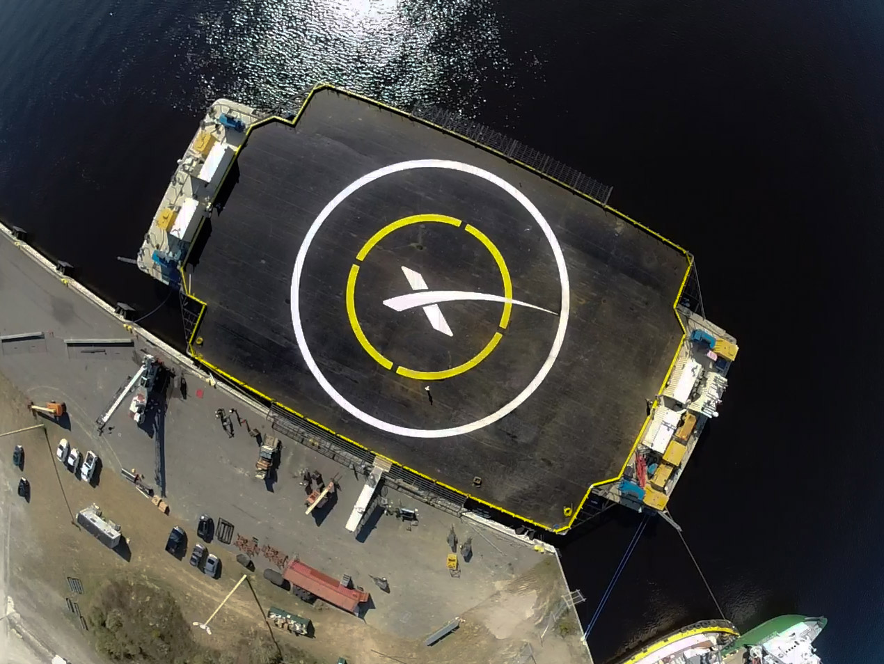 Falcon 9 Parking Only - Land Here