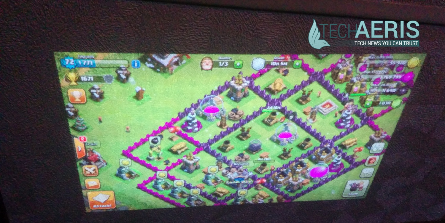 Projecting some Clash of Clans