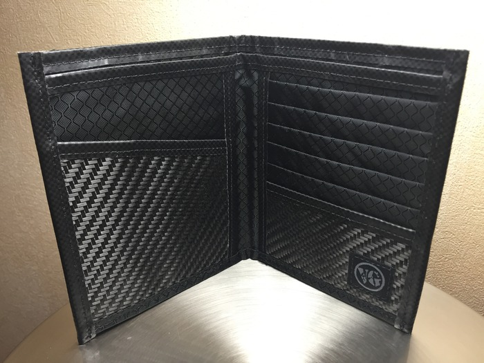 Viator carbon fiber RFID passport wallet