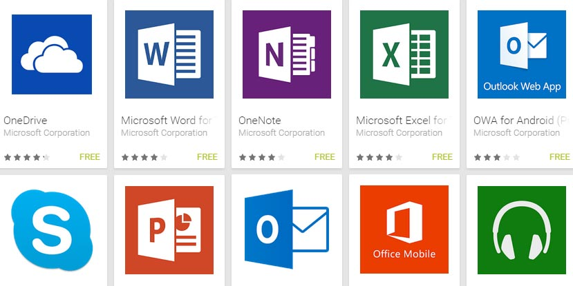 Microsoft-Android-Apps
