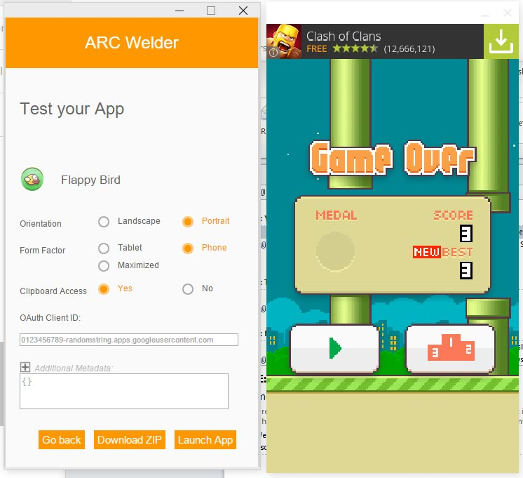 ARC-Welder-FlappyBirds