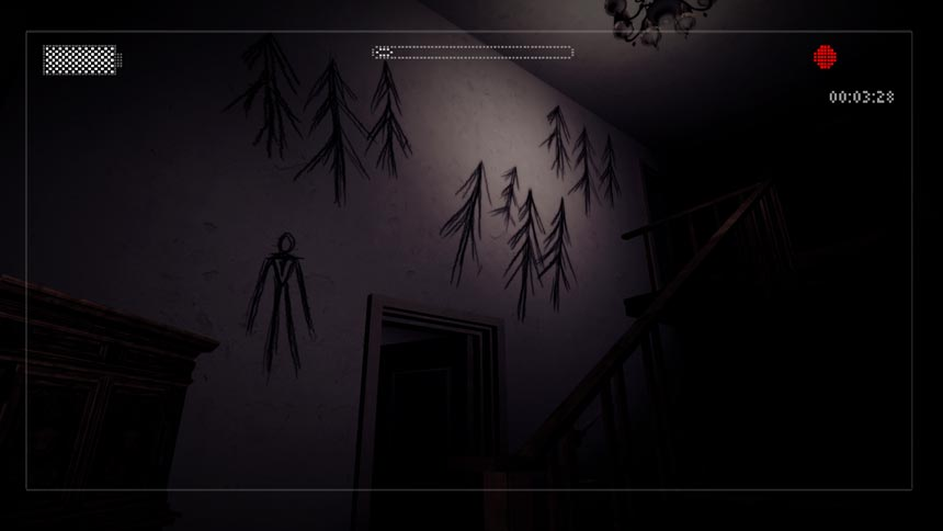 Slender: The Arrival Review Wall Graffiti
