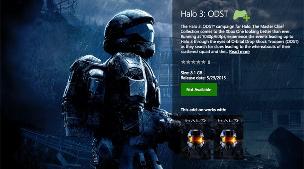 Halo 3: ODST Release Date Xbox Store