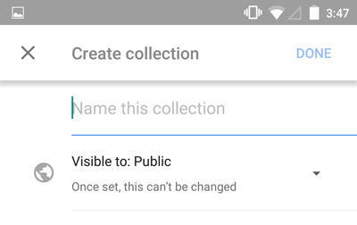 Mobile-Google-Collections-Create-Collection