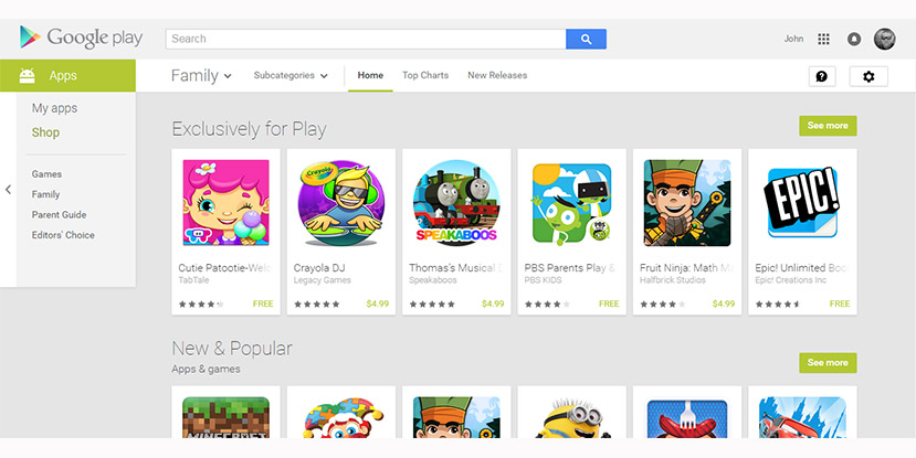 play family featured