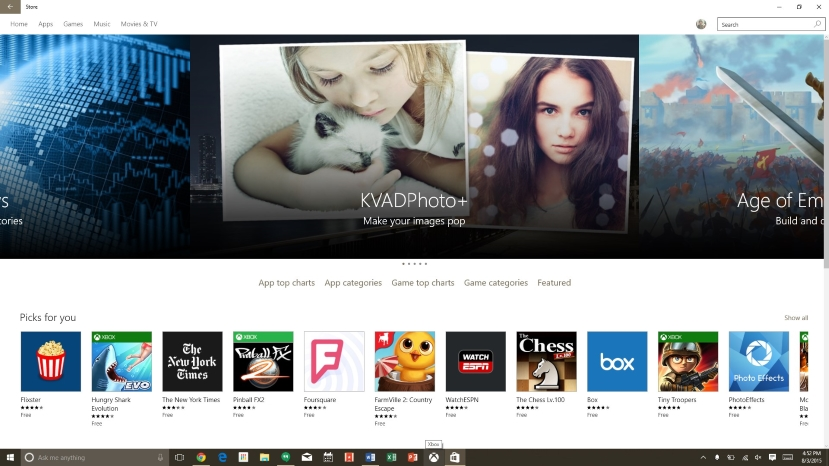 The Windows 10 Store is refreshed and a lot more intuitive to use.