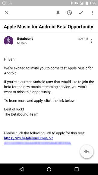 Apple Music Beta Invite