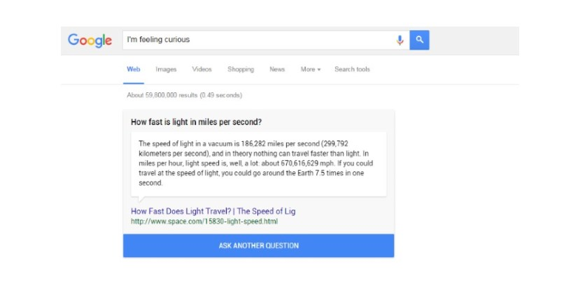 Google Is Feeling Curious