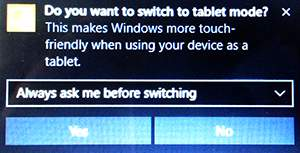 Tablet Mode