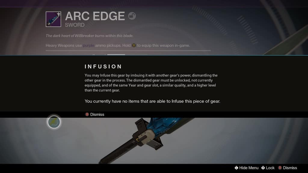 Infusing gear now allows players to keep the gear they like but add the higher attack or defense from that rare or legendary item they