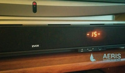 ZVOX Soundbase 570 Disappearing Display
