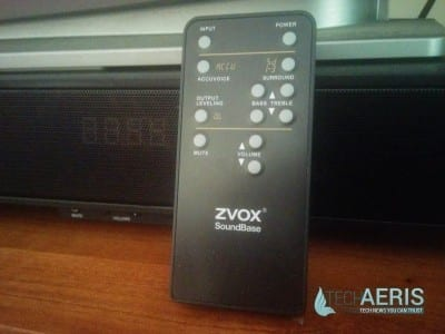 ZVOX Soundbase 570 Remote and Display