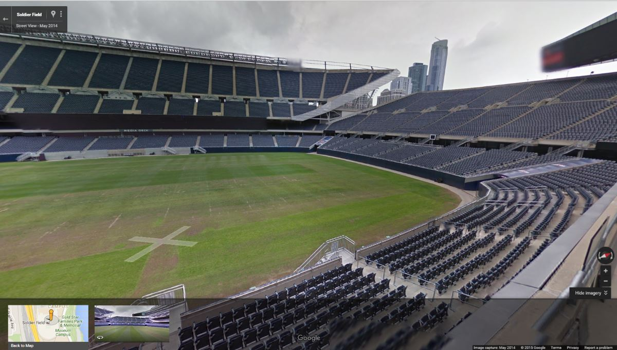 Chicago StreetView Soldier Field