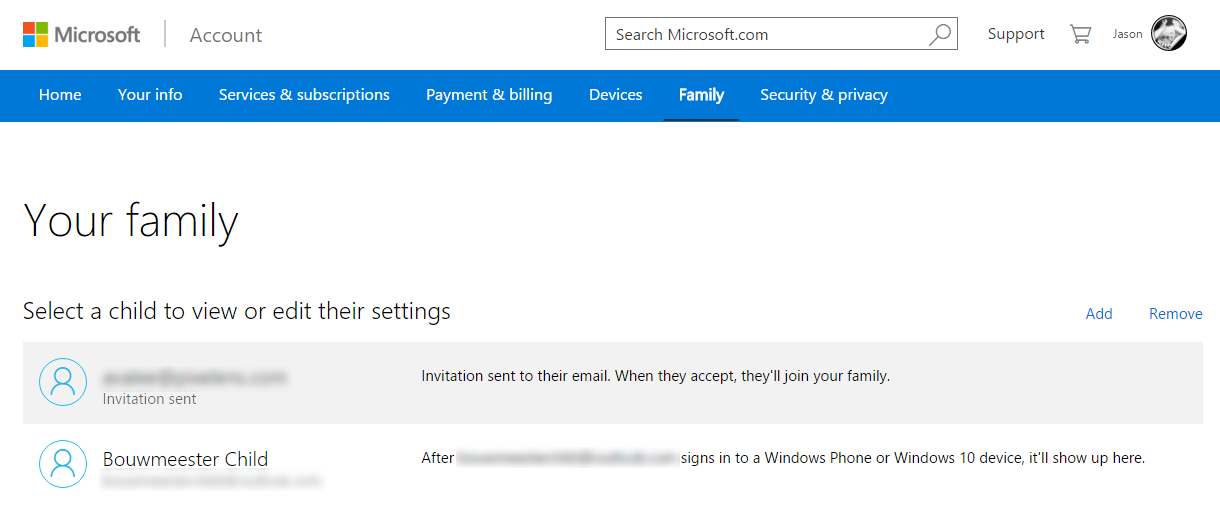 Microsoft-Family-Settings-07-Child-Added-New-Account