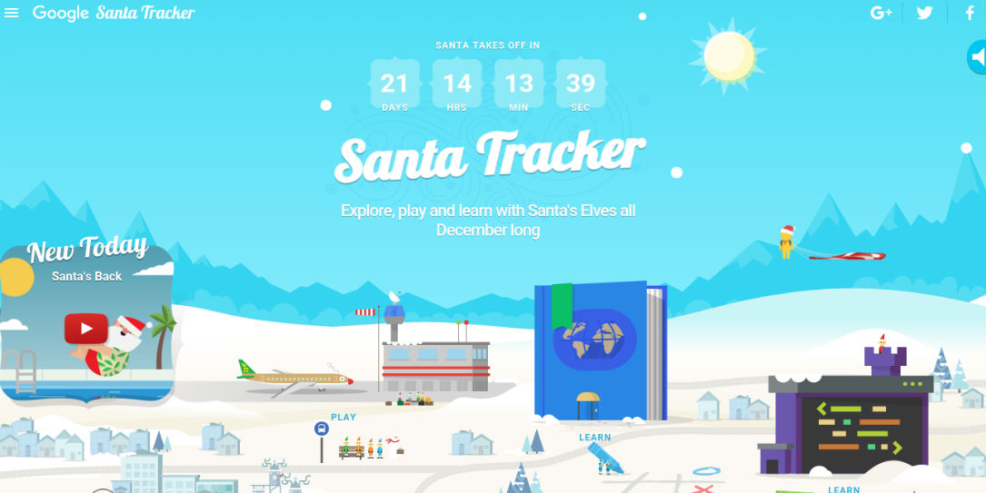 Google's Santa Tracker Is Live As Of Today
