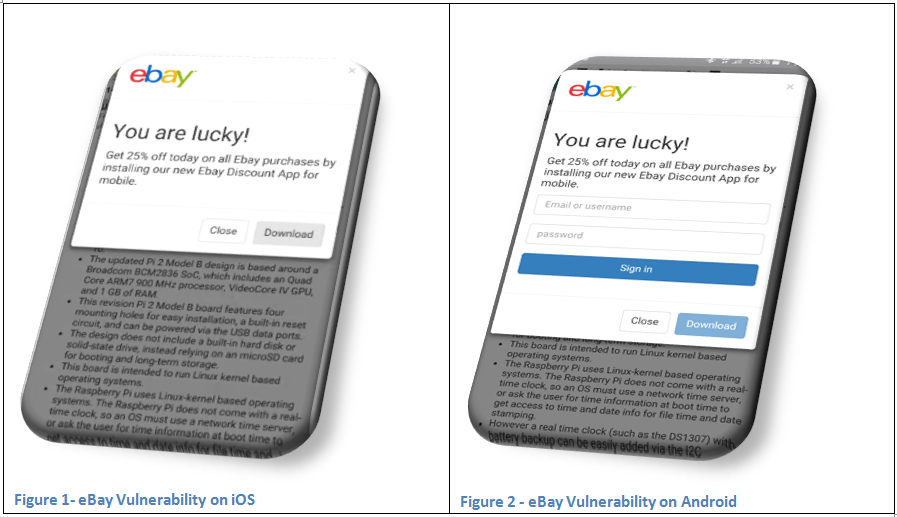 eBay vulnerability screenshot