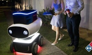 Pizza delivery robots