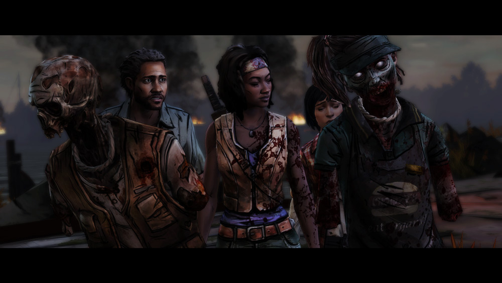 The-Walking-Dead-Michonne-Episode-2-Zombie-Shield